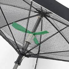 Patio Umbrella With Solar Lights by Fanbrella Uv Reflecting Umbrella With Motorized Fan The Green Head
