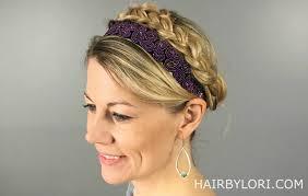 infinity headband milkmaid braids easy hairstyle hair by lori