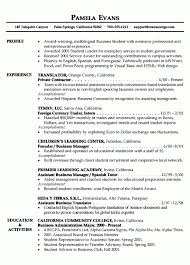 Example Of A Good College Resume by Professional Profile Summary Examples Resume Profile Title In