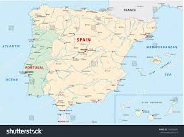 Madrid Spain Map by Portugal Spain Map Stock Vector 154720868 Shutterstock