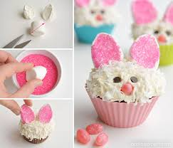 Easter Bunny Decorations To Make by How To Decorate Easter Bunny Cupcakes With Marshmallow Ears