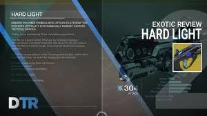hard light destiny 2 destiny 2 hard light exotic review youtube