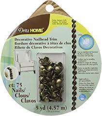 Nailheads For Upholstery Amazon Com Dritz 44286 Upholstery Nailhead Trim Silver 5 Yard