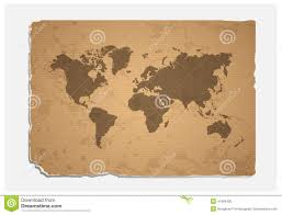 World Map Blank World Map On Blank Grunge Paper Texture Stock Vector Image 41990435