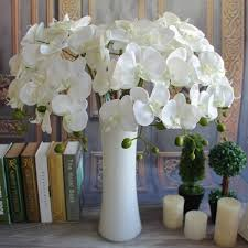 Fake Flowers For Home Decor 3 Colors Artificial Butterfly Orchid Flower Simulation Flowers