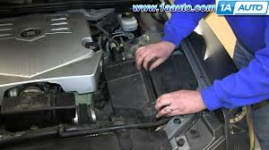 2003 cadillac cts throttle how to install replace engine air filter 2003 10 cadillac cts
