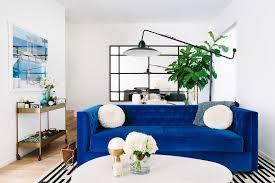 tuxedo sofa ideas living room contemporary with blue velvet tufted