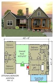 covered porch house plans best 25 small cottage plans ideas on small home plans