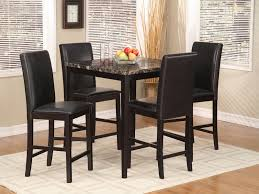 Marble Bar Table Dining Set Black Metal Faux Marble Table Top