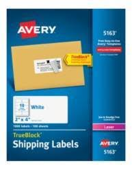 avery laser shipping labels with trueblock 2