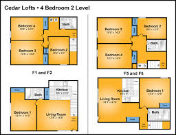4 Bedroom Apartment by Cedar Lofts A Great Penn State And State College Housing Option