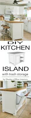 kitchen island trash diy kitchen island with trash storage diy kitchen island