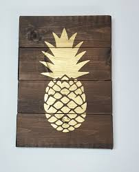 Pineapple Home Decor by Amazon Com Rustic Pallet Pineapple Wood Sign Wooden Signs For
