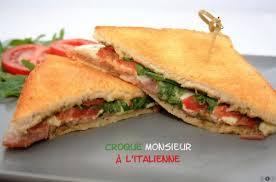 recettes de cuisine du monde croque monsieur italien recette spécial cuisine du monde
