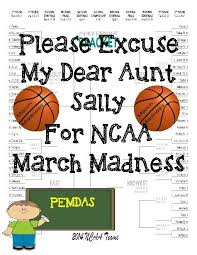 ncaa march madness order of operations teacherlingo com