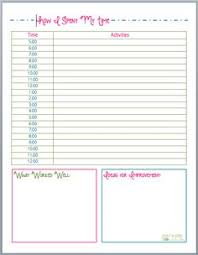 where does my time go worksheet download this free printable