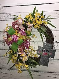 summer wreath spring wreath cross wreath spring flowers spring