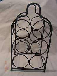 black wrought iron metal 6 bottle wine rack table top what u0027s it