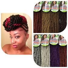 black cuban twist hair crochet freetress equal synthetic hair braids havana twist style