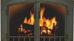 glass fireplace doors canada