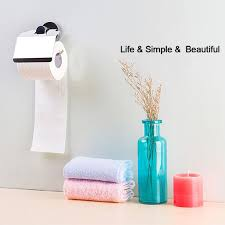 stainless steel toilet paper roll holder no drill wall mount