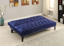 Tufting Sofa by Royal Blue Velvet Tufted Sofa Bed Futon Caravana Furniture