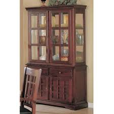 China Cabinet Buffet Hutch by China Cabinet Buffet Hutch With Brass Hardware Rich Cherry Finish