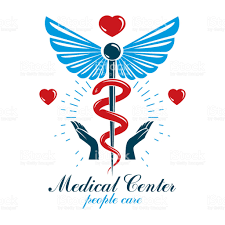 aesculapius vector abstract business logo for use in medical