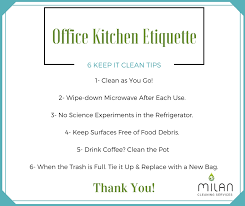 cleaning tips for kitchen office kitchen etiquette 6 keep it clean tips milan cleaning