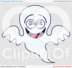 clipart of a halloween ghost laughing royalty free vector