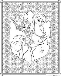 nella princess knight coloring pattern for teenager coloring pages