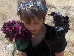 black and silver fairy flower garland crown hydrangea flower