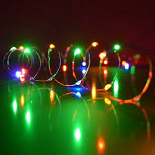 multi color ultra thin twinkling lights 30 lights 60 inches