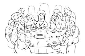 Children Bible Coloring Pages Coloring Pages Kids Creative Idea Last Supper Coloring Page