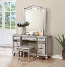 Wood Vanity Table Coaster Furniture Bling Vanity Desk With Mirror The Home