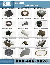 street sweeper replacement parts products
