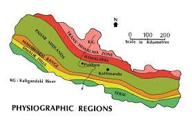 Nepal On Map 01 Nepal Landforms
