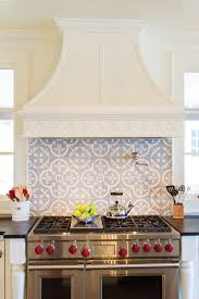 handmade tile backsplash and custom range hood cool kitchens