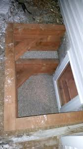egress window timber well with step affordable egress windows