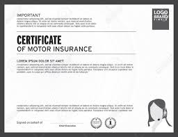 certificate of motor insurance template royalty free cliparts