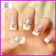 3d nail art flowers rhinestones glitters 24pcs acrylic gems tips