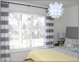 Grey White Striped Curtains And White Curtains Striped Curtains Home Design Ideas