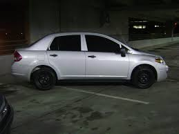 nissan tiida black rockin the stock rims no hubcaps nissan versa forums