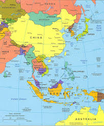 Asia Physical Map Download Map East Asia Major Tourist Attractions Maps