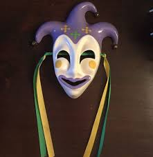 ceramic mardi gras masks for sale ceramic mardi gras mask new orleans purple green gold