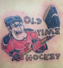 old time hockey tattoo
