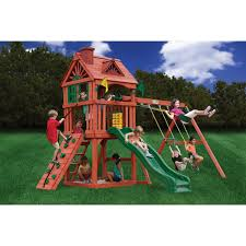 exterior wood playsets with gorilla swing sets