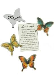 butterfly gifts butterfly pocket tokens for cancer patients