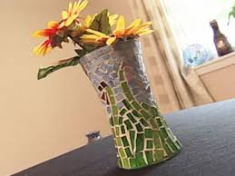 How To Make A Mercury Glass Vase How To Make A Glass Mosaic Vase Hgtv