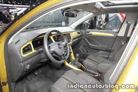 volkswagen t roc r line dashboard at iaa 2017 indian autos blog
